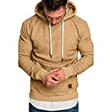 Men's Hoodies Sloid Long Sleeve Winter Pullover
