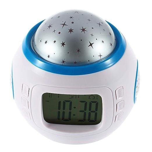 GQNLY Sky Music Luz de proyector, LED Digital Reloj Despertador ...