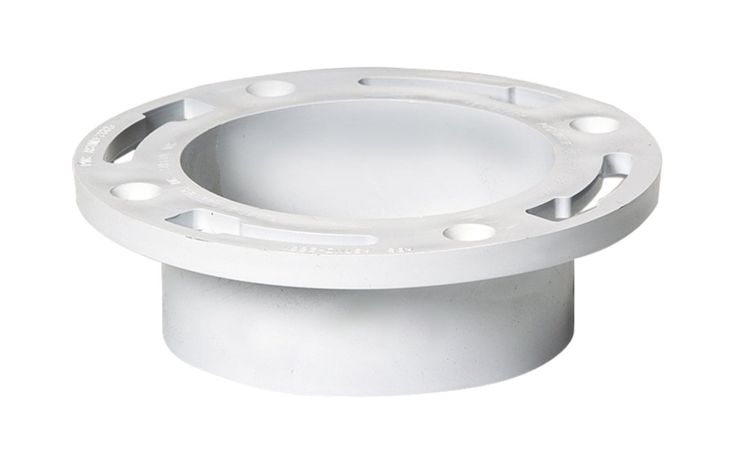 Plastic Oddities 4-inch Closet Flange Without Test Cap (PFF106), Fits Over 4-inch Sch 40 DWV PVC Pipe, Has 4 Mounting Slots, Countersunk Holes, Full Flow Flush Fit, 4-inch Toilet Flange, Made in USA.