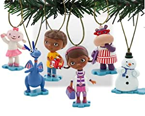 Disney's Doc McStuffins Holiday Ornament Set- (6) PVC Figure Ornaments Included - Limited Availability
