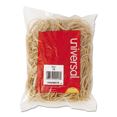 Universal UNV00418 18-size rubber Bands (1/4 pound)