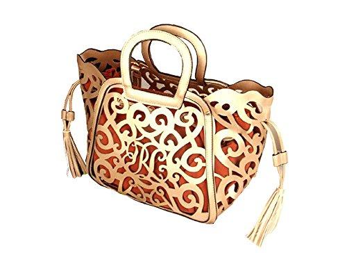 tracolla borsa nuove donna donne tracolla in borsa pelle di moda a oro messenger a borsa xxaUvt