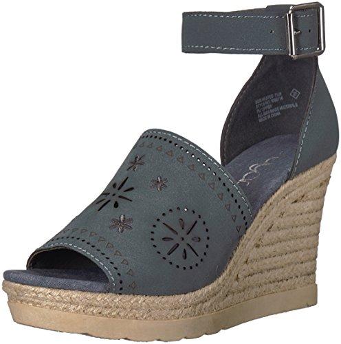 Sugar Women's Sgr-Heated Espadrille Wedge Sandal, Slate Nubuck, 10 M US ()