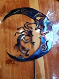 Kokopelli Moon/9w x 10 1/8h/quality metal art/14 ga steel