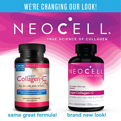 NeoCell Super Collagen + C – 6,000mg Collagen Types 1 & 3 Plus Vitamin C - 120 Tablets (Packaging May Vary)