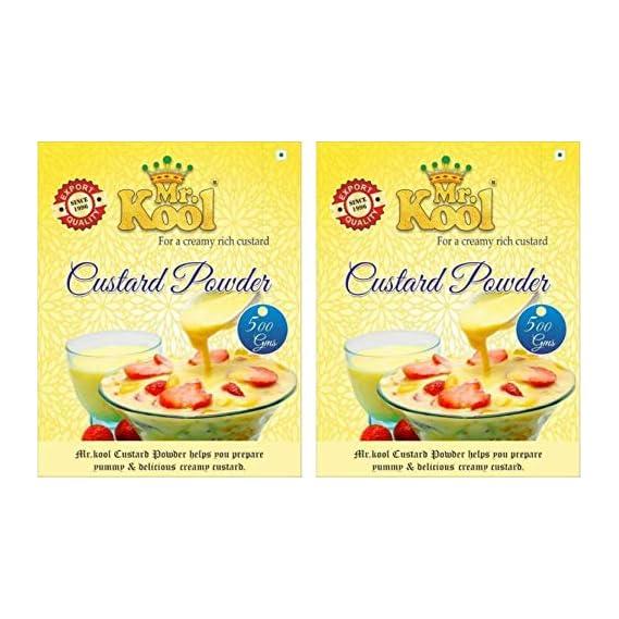 MR. KOOL Golden Vanilla Flavor Custard Powder Pure Veg 500 gm Pack 2