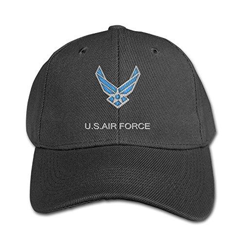 Mollie Storey Air Force Trucker Snapback Twill Cap For Kids Black