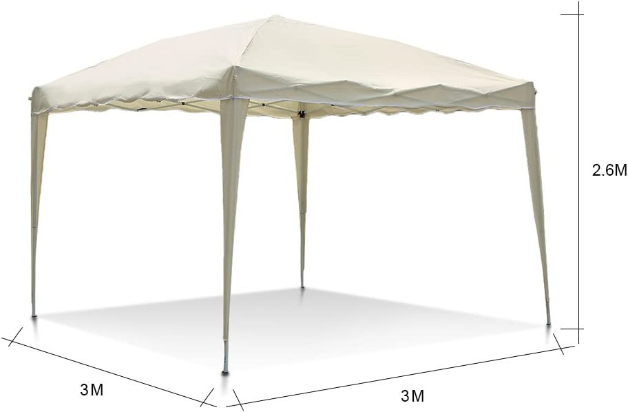 IKAYAA F002 - Cenador 3x3x2.6M Carpa Plegable para Jardín Patio: Amazon.es: Hogar