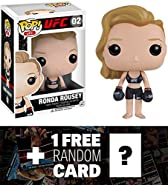 Ronda Rousey: Funko POP! x UFC Vinyl Figure + 1 Wrestling Themed Trading Card Bundle (101299)