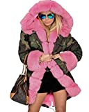 Product review for Roiii Women Military Winter Casual Outdoor Coat Hoodie Jacket Long Trench Parkas