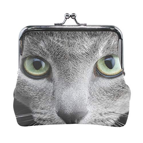 Russian Blue Cat Womens Wallet Card Holder Coin Purse Clutch Handbag ()