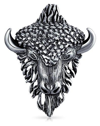 Taurus Bull Head Zodiac Sign Astrology Horoscope Pendant For Women For Men Necklace Antiqued 925 Sterling Silver