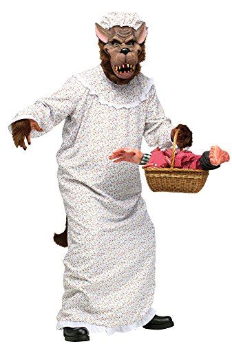 [Big Bad Granny Wolf Adult Costume Halloween Costume] (Big Bad Wolf Costume Granny)