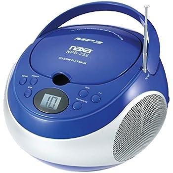 Naxa Electronics Portable Mp3cd Player With Amfm Stereo Radio (Blue) 1