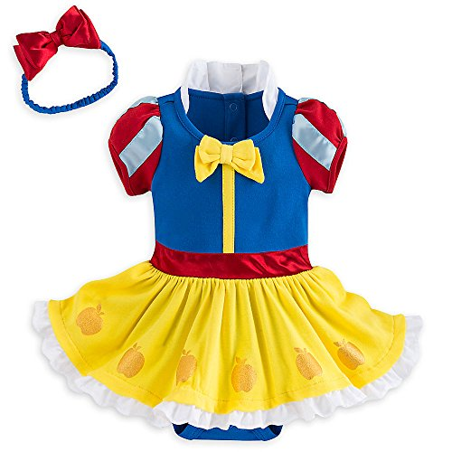 Disney Store Deluxe Snow White Baby Costume Outfit & Headband (6-9M) (Easy Disney Costume)