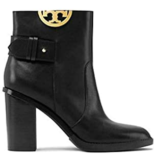 81e1c359409 Tory Burch Black Sidney 85MM Heel Boots Booties Leather Shoes 50960