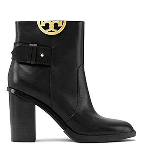 c435a2925267 Tory Burch Black Sidney 85MM Heel Boots Booties Leather Shoes 50960 (7.5 M  US)