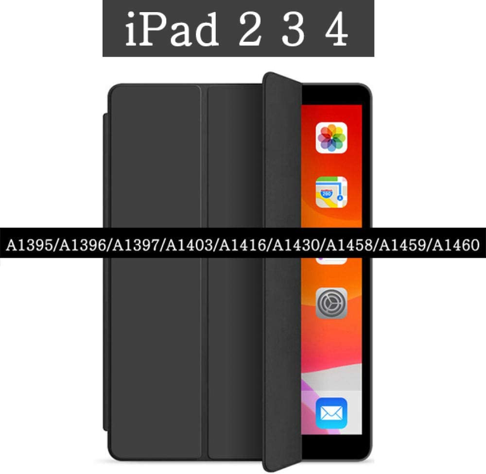 HNKHKJ Estuche magnético para Apple iPad 2 3 4 A1458 A1459 A1460 A1395 A1396 A1397 A1403 A1416 9 7 Cubierta de Cuero Cubierta Inteligente Soporte Flip Case-For_iPad_2_3_4: Amazon.es: Electrónica