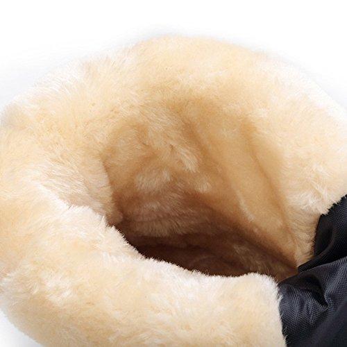 Noir Showlovein Boots Femme Hiver D'hiver Pour Etanche glissant De Bottines Fourrure Anti Neige Bottes r8rq6xO