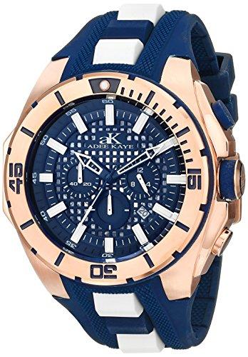 Adee Kaye Men's AK6367-M/BU Axes Collection Analog Display Japanese Quartz Blue Watch