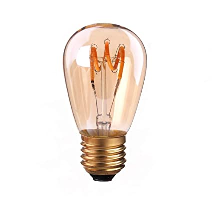 Siglo ST45 de luz – 3 W Flexible LED Vintage regulable bombilla de jaula de ardilla