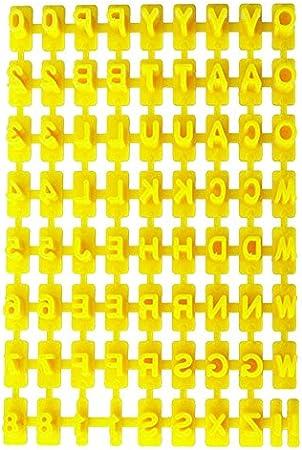 SZTARA – Carta del alfabeto y números para galletas fondant sello juego de herramientas para repostería: Amazon.es: Hogar