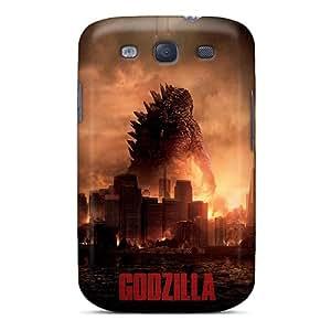Samsung Galaxy S3 NNR9932yBwB Unique Design High-definition 2014 Godzilla Pattern Shock Absorbent Cell-phone Hard Covers -DannyLCHEUNG