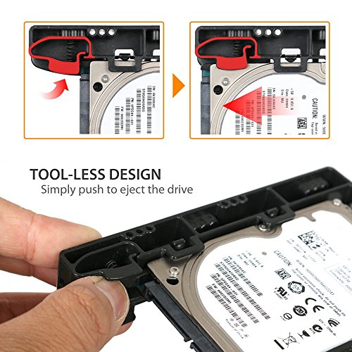 ICY DOCK (With Cables) DUAL Tool-less Dual 2.5 to 3.5 HDD Drive Bay SSD Mounting Bracket Kit Adapter - EZ-Fit Lite MB290SP-1B SSD Bracket by ICY DOCK (Image #1)