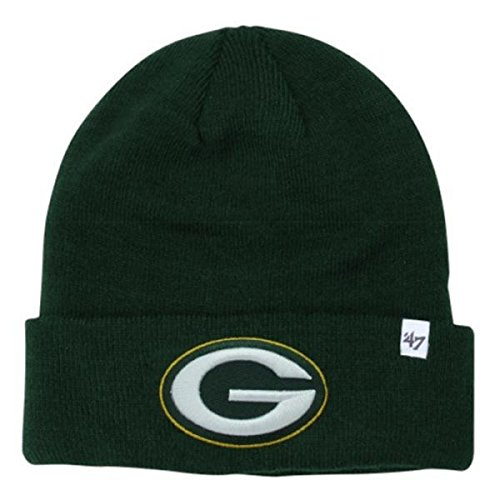 '47 Brand Green Bay Packers Green Cuff Beanie Hat - NFL Cuffed Winter Knit Toque Cap (Toque Knit Hat)