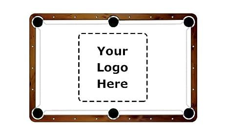 ArtScape 7u0027 Custom Design Pool Table Cloth Felt