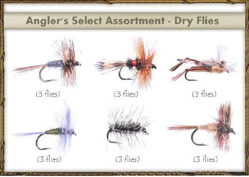 - Fly Fishing Flies - Angler's SELECT Assortment - DRY FLIES (18 flies)