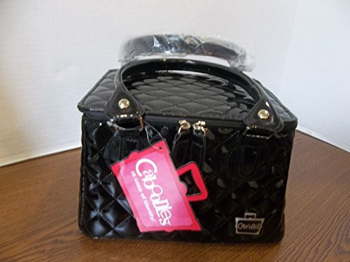 caboodles-tapered-tote-sassy-makeup-cosmetic-bag-black-quilted-vinyl
