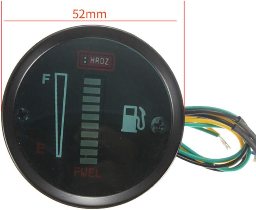 LED Tankanzeige langlebiges Leichtgewicht 12V DC 52mm LED Anzeige f/ür Auto Motorrad F/üllstandsensor Ersatz Tankanzeige