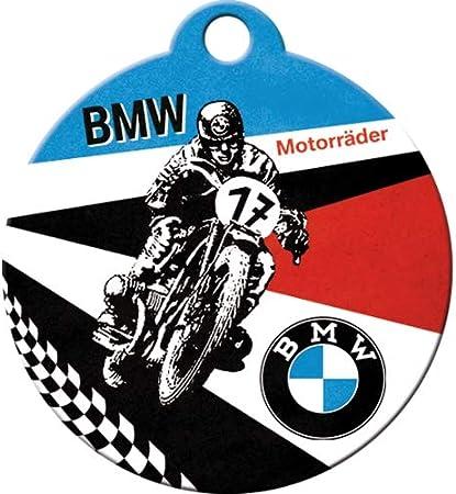 Nostalgic-Art 48017 BMW Motorr/Ã/¤der Schl/üsselanh/änger Rund 4 cm