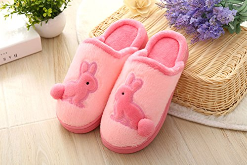 Rabbit Booties - Womens Mens Cartoon Rabbit Soft Cozy Slip-on House Bedroom Mules Thermal Slippers Scuff Footwear Winter Warm Furry Plush Flat Slipper Bootie Waterproof Anti-skid Sole Indoor Home Clogs Slippers Shoes