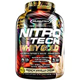 MuscleTech NitroTech Whey Gold, 100% Whey Protein Powder, Whey Isolate and Whey Peptides, Vanilla, 5.5 Pound