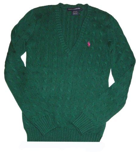(Women's Ralph Lauren Sport V-Neck Sweater Green Size Medium)