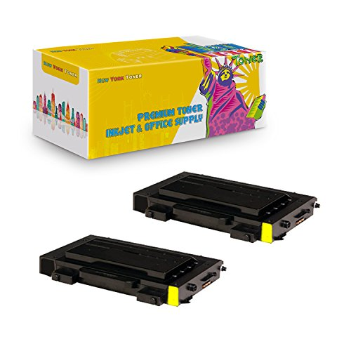 New York TonerTM New Compatible 2 Pack CLP-510D5Y High Yield Toner For Samsung - CLP-510N | CLP-510NG . -- Yellow ()