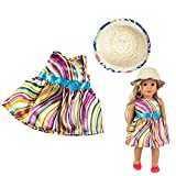 Sandistore Clearance! Clothes Dress For 18 Inch American Doll Accessory Girl Toy, Mini Cute Lovely Dress Also fit our generation, For 18 inch dolls