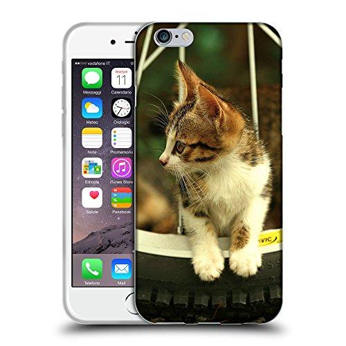 """Just Phone Cases Coque de Protection TPU Silicone Case pour // V00004266 chat intérieur de la roue de bicyclette // Apple iPhone 6 6S 6G PLUS 5.5"""""""