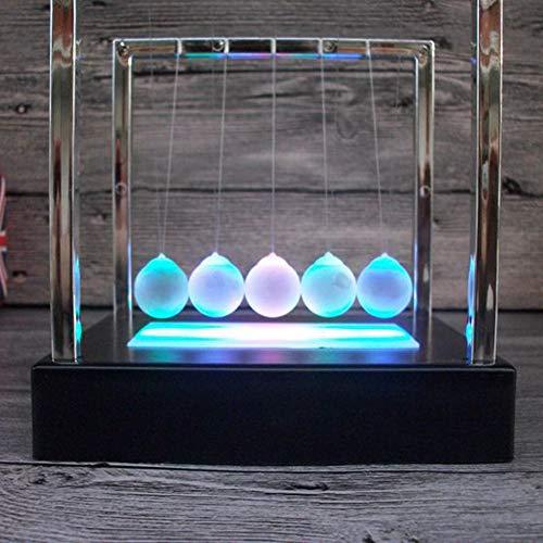 Ugood 2cm Luminous Ground Pendulum Newton Cradle Balance Ball for Desktop Decoration (Pendulum Wave)