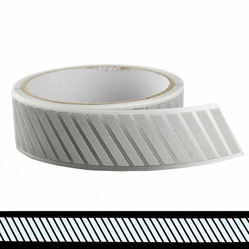 1 Safety Heat-Transfer Vinyl Film DIY Silver Reflective Iron on Fabric Clothing Tape M15 (1 x 33ft)