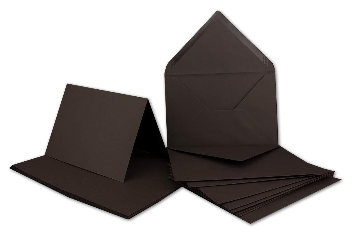 Faltkarten Set mit Brief-Umschlägen DIN A6   C6 in Rosanrot   100 Sets   14,8 x 10,5 cm   Premium Qualität   Serie FarbenFroh® B079YWH9Q8 | Haltbar