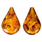 Amber Drilled on Top Calibrated Pair of Gemstones Size 18x26mm