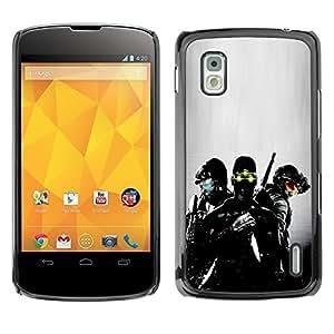 MOBMART Slim Sleek Hard Back Case Cover Armor Shell FOR LG Nexus 4 E960 - Night Vision Soldier