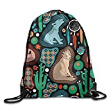 ZQWEOO Southwest A Drawstring Backpack Personality Lovely Nice For Women