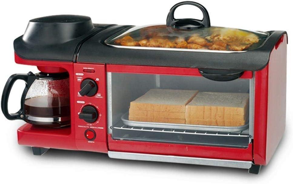 Inicio Máquina desayuno, 3-en-1 multi-función automática Horno, Cafetera, Teppanyaki