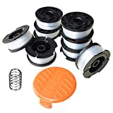 """Tmtamye Line String Trimmer Replacement Spool, 30ft 0.065"""" Autofeed String Trimmer Line Replacement Spool for BLACK+DECKER String Trimmers, 9 Pack (8 Replacement Spool, 1 Trimmer Cap)"""