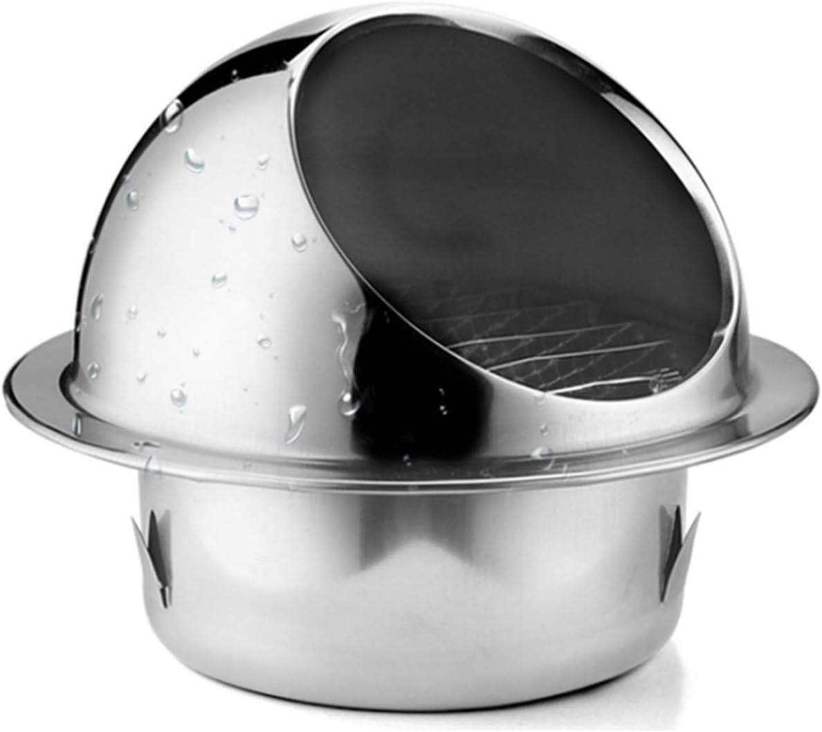 Chimeney Spinner Cowl, Vent Cowl Cap, 304 Cubierta De Ventilación De Acero Inoxidable Ventilación De La Pared Ronda De Ventilación De Aire De La Rejilla De La Rejilla De La Rejilla Con Los(Size:200mm)