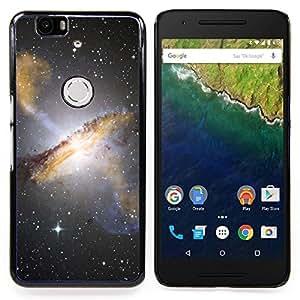 """Qstar Arte & diseño plástico duro Fundas Cover Cubre Hard Case Cover para Huawei Google Nexus 6P (Estrellas del cielo nocturno Hubble Ver fotos Galaxy Amarillo"""")"""
